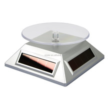 2015 Hot Sales Jewelry Making Supplies Diamond Electronic Solar Pocket Turntable Display
