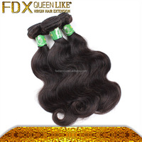 Top qulity Brazilian hair extension type body wave natural black color full and soft