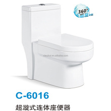 China factory hot popular white s-trap eddy one piece recliner toilet