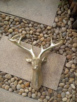 2017 Resin deer head decoration fiberglass home decoration