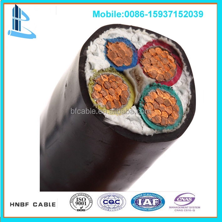 4 core 95mm PVC Power Copper Cable with PVC Sheathed