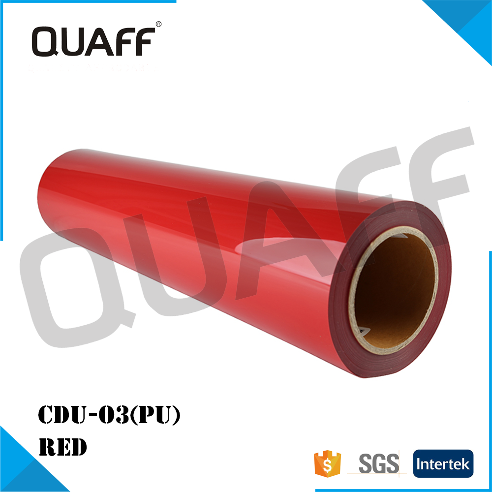 High-Quality QUAFF Korea PU Clothing Heat Transfer Vinyl CDU-<strong>03</strong> RED