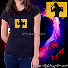 Customized new design equalizer led t shirt