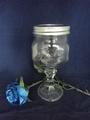 473ml empty mason jar with lids and pedestal