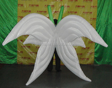 200cm white stage decoration inflatable wing/butterfly costume/stage inflatable wing decoration W384