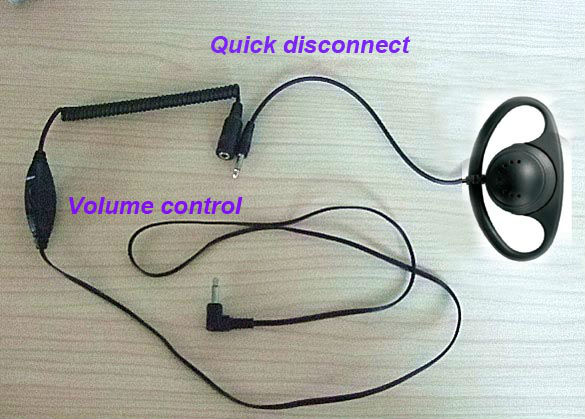 (3.5mm/2.5mm jack) D sharp earphone with volume control TC-503-4