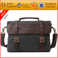 Guangzhou bag factory vintage style men canvas messenger bags wholesale