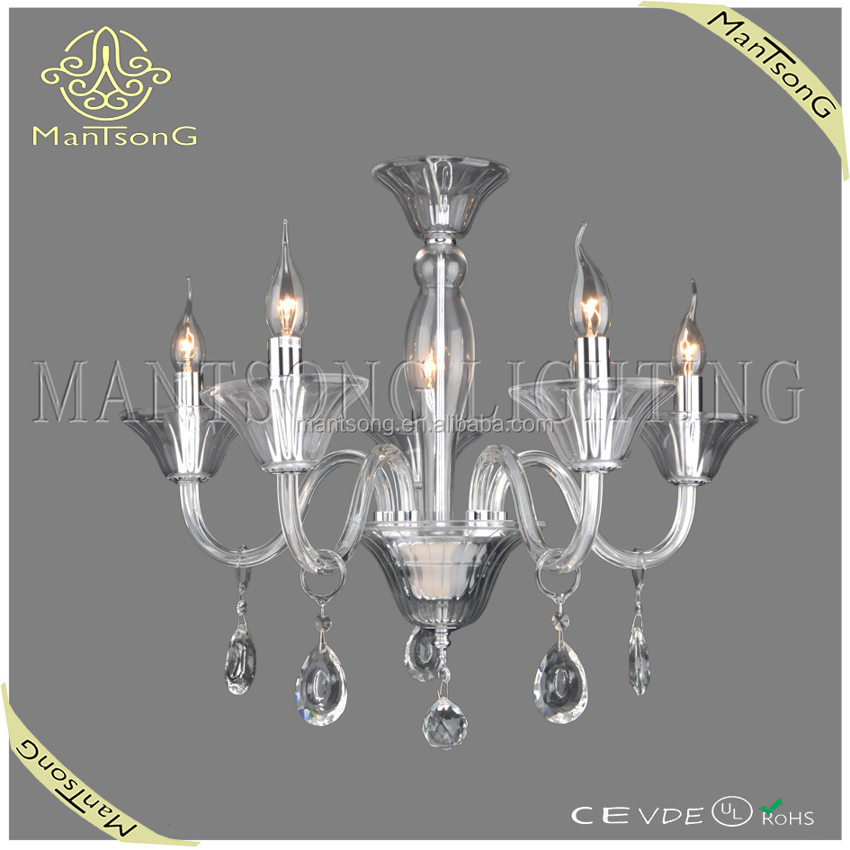 Free shipping 2015 new products chrome plated candle chandelier dressed crystal ornamets glass chandelier light