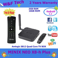 minix neo x8 h x8h x8-h PLUS Amlogic S812 Quad-Core Android 4.4.2 Google TV Player 2GB16GB 4Kx2K