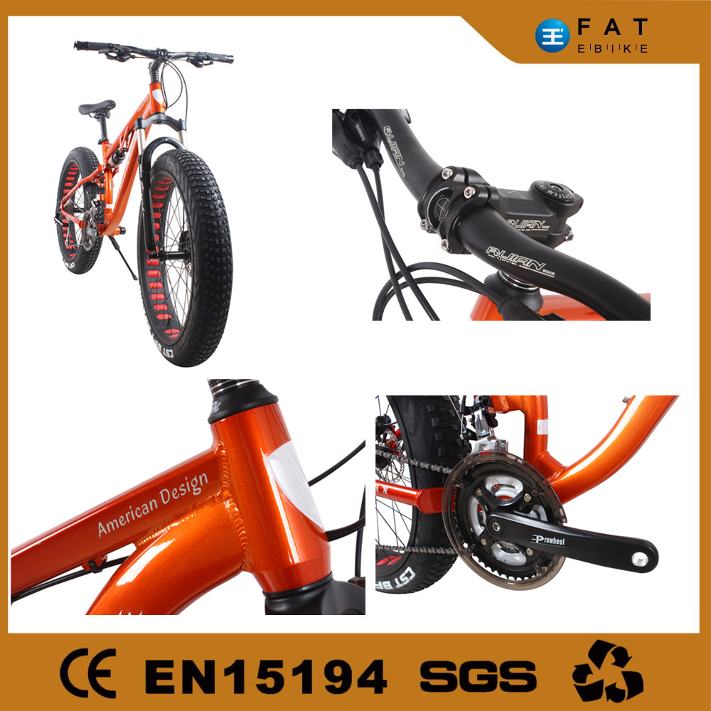 Running bike!four wheel and full suspension advertising mountain bike fat bicycle