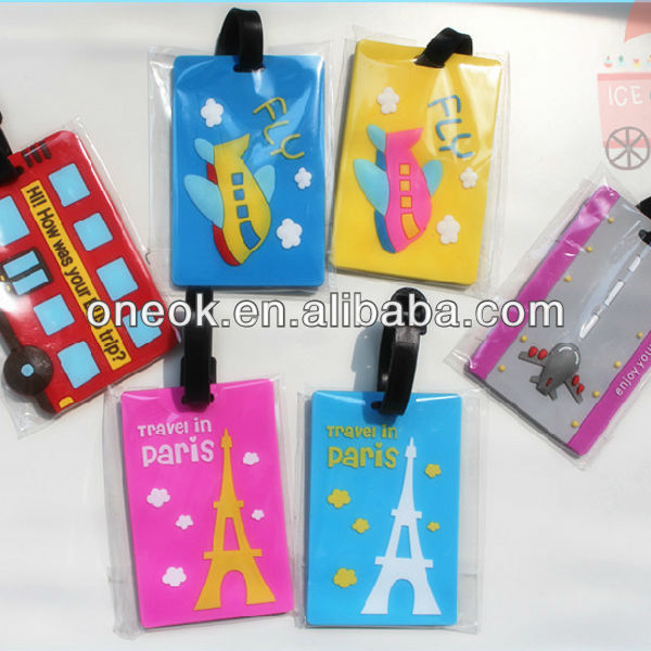 PVC airline luggage tag