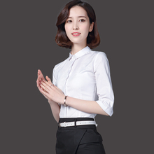 High-end elegant office Solid color square neck work shirt for women
