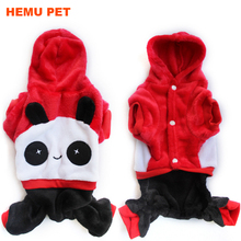 2018 hemu pet doggy cartoon panda hoodie warm sweater puppy winter coat apparel dog clothes bulk