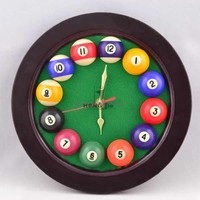 Cheap Billiards wall clock, pool ball clock, billiard accessories