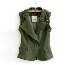 Ladies Sexy Soft Bulletproof X-ray Lead Leather Biker Camo Vest