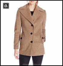 AG-WYNZ6126 Factory clothing High quality single breasted cashmere women's wool coat