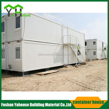 Modern steel frame modular flat pack container home