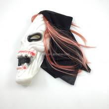 Halloween cosplay mischief mask with wigs for kinky party