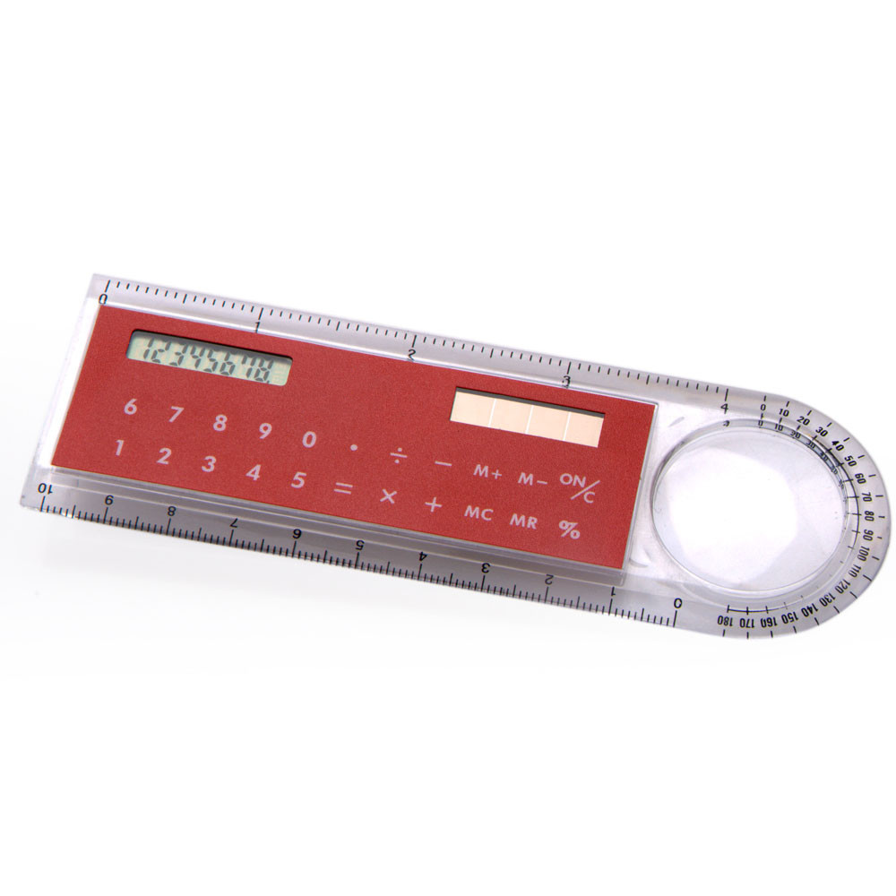 8 digits solar power 4 inch ruler calculator with 10cm ruler