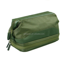 custom high qutlity double layer mens travel toiletry bag wholesale
