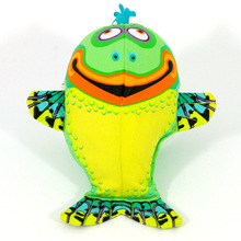 RoblionPet Pet Dog Squeaker Toy Plush Fish/Frog Plush Puppy Plush Squeaky Pet Funny Playing Training Interactive Chew Sound