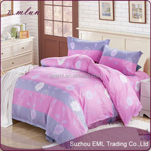 New design pretty oem beautiful home textile grinding wool imitation cotton bedclothes four bedding sets EML-12-W1004