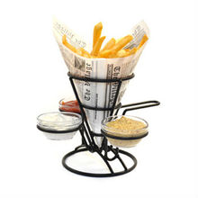 Black 3-Ring Appetizer Cone with Handle