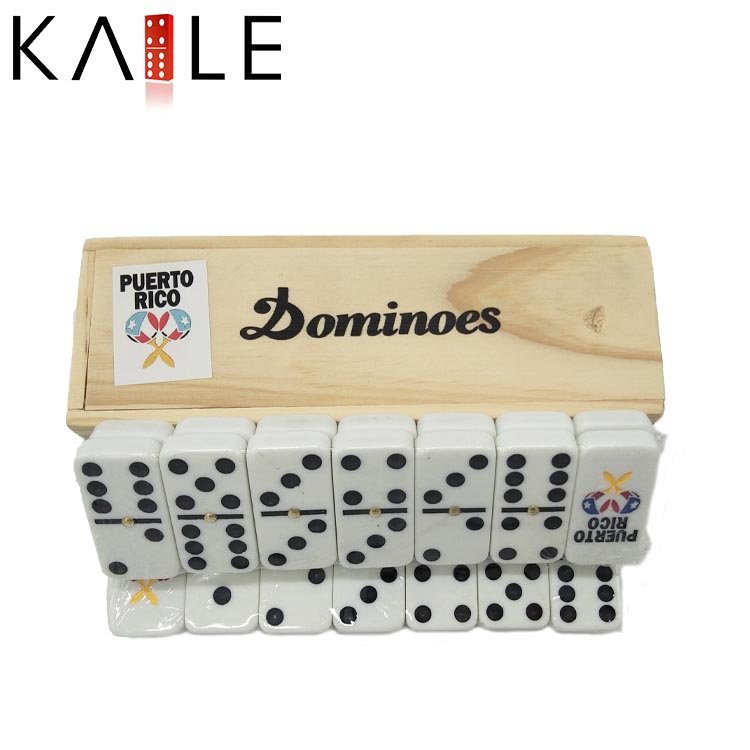Wholesale plastic Domino With Wooden Box