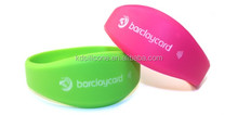 Custom smart silicone RFID wristbands,sport soccer wristband,bluetooth gps tracking wristband
