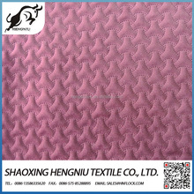 Ultrasonic quilted knitted velvet fabric for garments