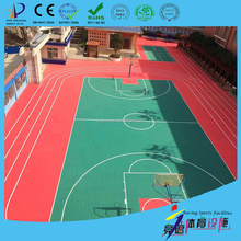 Factory price polypropylene basketball court interlocking flooring material cost with self-draining indoor outdoor use