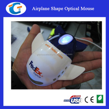 Mini cute optical mouse computer harware wired airplane mouse