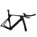 700C UD Matt BSA BB30 Bicycle Frameset 50 52 54 56cm Carbon Time Trial Bike Frame Triathlon