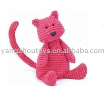 custom plush soft red corduroy toy cat cordy roy cat