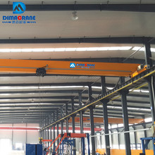 10 ton Electric trolley travelling single beam Bridge overhead Crane for sale