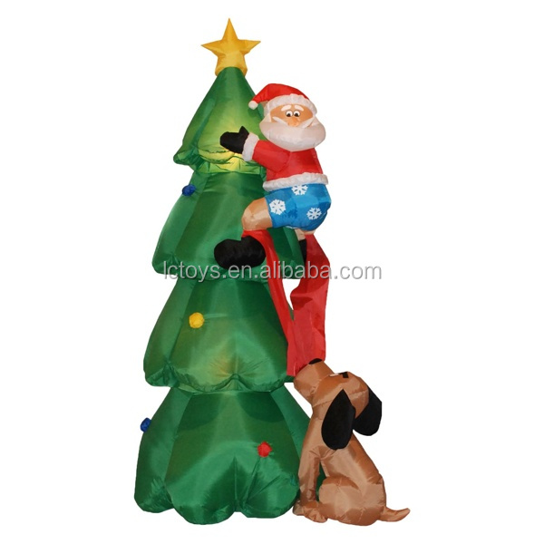 Funny inflatable Christmas father,christmas tree for indoor decoration