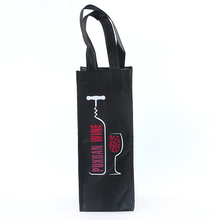 Ningbo Cheap Custom Non Woven wine Bag with good quality one Bottle bag Wine Bag with printing logo
