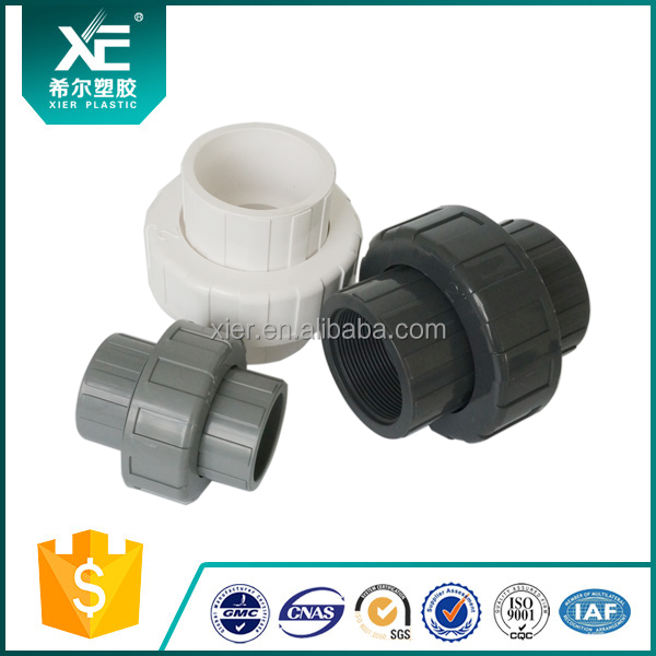 ISO9001 Socket End PVC Pipe Union for Water Treatment