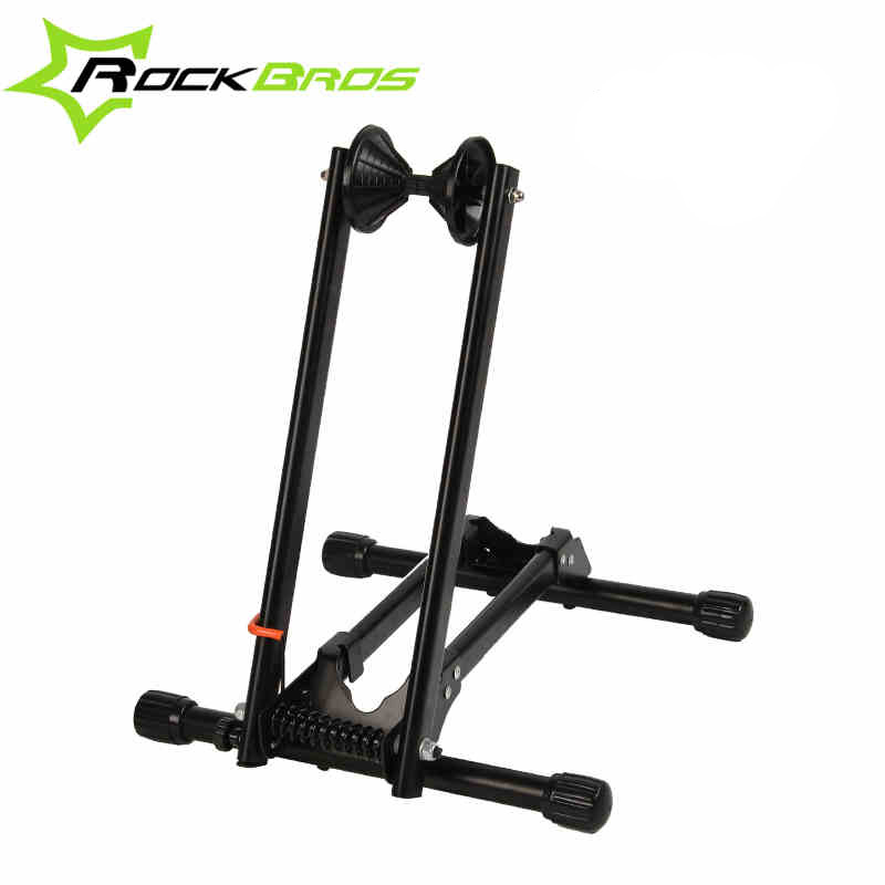 ROCKBROS Foldable Bicycle Bike Parking Rack Portable Bike Tire Holder L Shape Indoor Bicycle Repair Stand Bicycle Rack