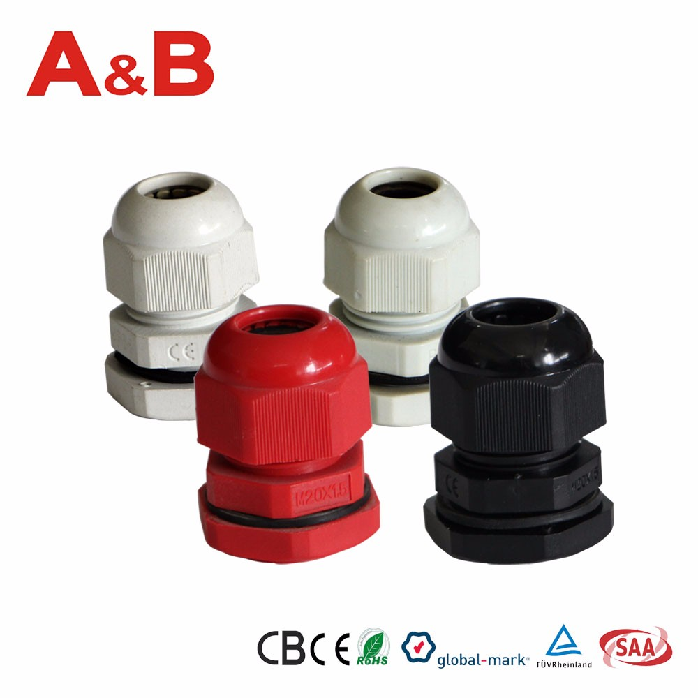 Plastic Water Proof Cable Connector,Cable Pipe Joint,Cable Nipple