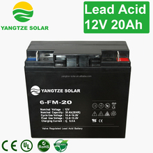 Free shipping deep cycle 12v 20ah gel batteries