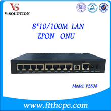 8 ports gepon onu SC PC connector 8FE Optical ftth epon onu