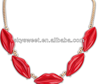chicago fashion red lips necklace replica lip necklace sell at cheap price 2013 (SWTCX1673)