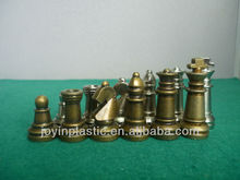 "2.25"" metal chess pieces with velvet on base, classy metal chess game/ metal large chess pieces"