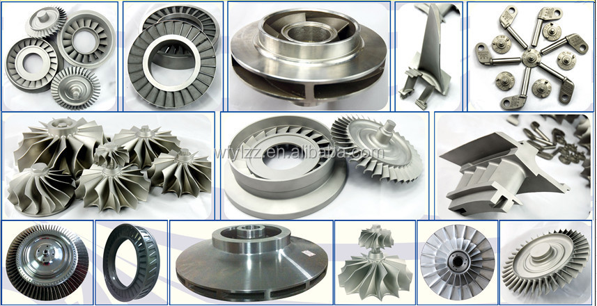 Hot sale!!lost wax precision casting blades for gas turbine parts