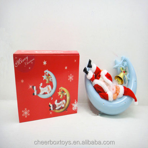 Electric Moon Boat Santa Claus Christmas toys, Christmas santa claus gift