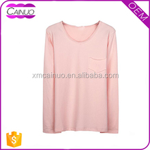 Manufacturer Wholesale Plain Blank Women Slim Fit T Shirts With Pocket