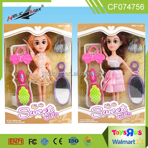 Beautiful lovely fashion doll with accessory dress up games for girls