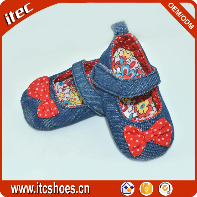 2016 fashion spanish red bow oxford baby girl shoes with flow design