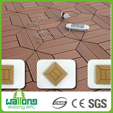 Waterproof durable wpc pergola flooring